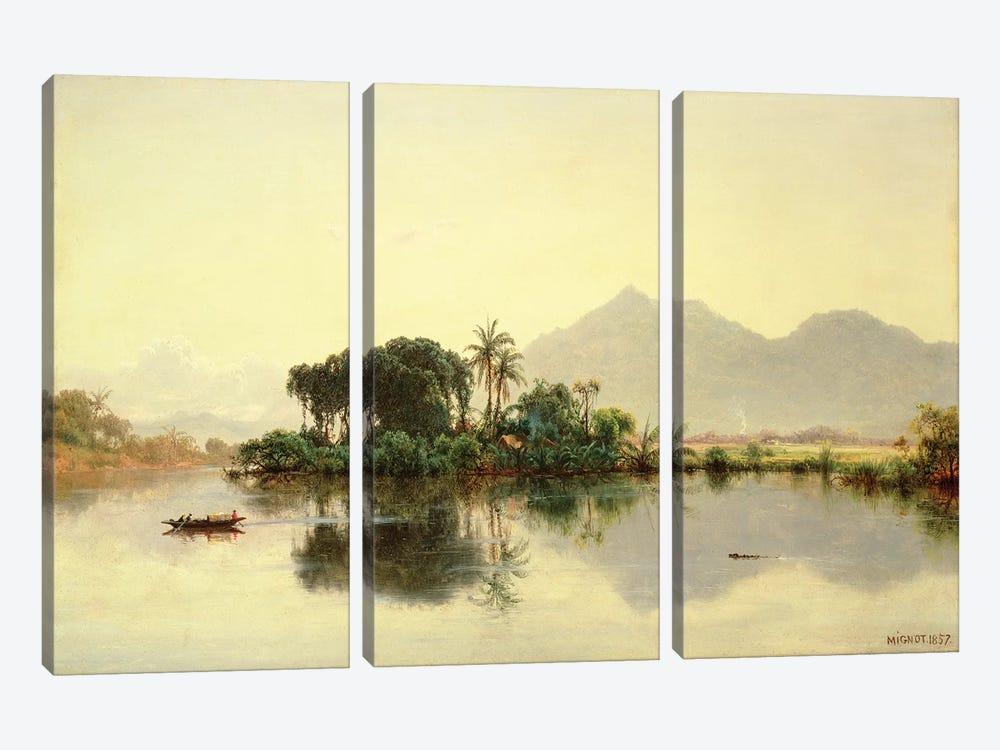 On the Orinoco, Venezuela, 1857  by Louis Remy Mignot 3-piece Canvas Art Print