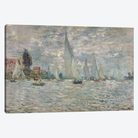 The Boats, or Regatta at Argenteuil, c.1874  Canvas Print #BMN480} by Claude Monet Canvas Wall Art