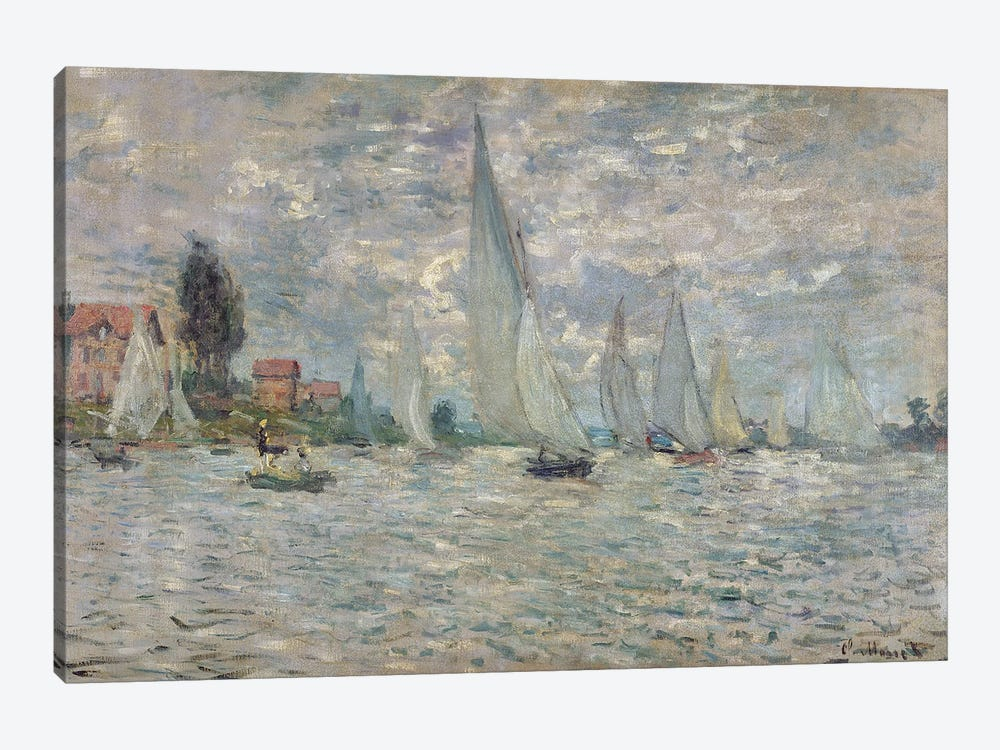 The Boats, or Regatta at Argenteuil, c.1874  by Claude Monet 1-piece Canvas Wall Art