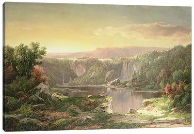Mountain Lake near Piedmont, Maryland  Canvas Print #BMN4810