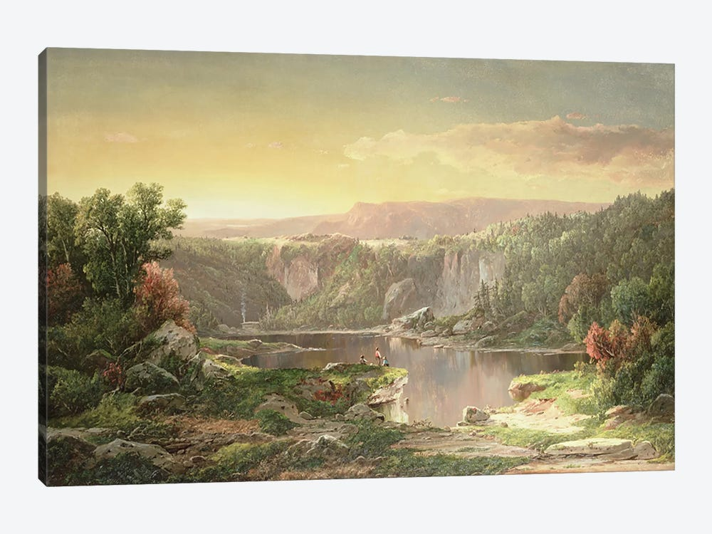 Mountain Lake near Piedmont, Maryland  by William Sonntag 1-piece Canvas Print