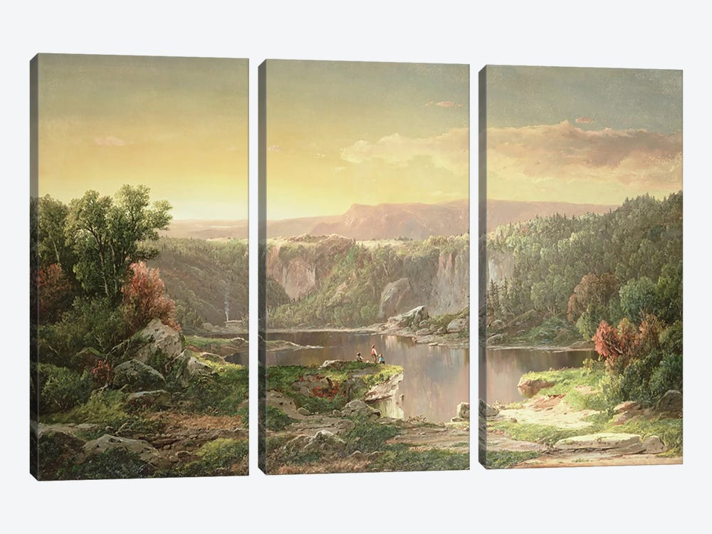 Mountain Lake near Piedmont, Maryland  by William Sonntag 3-piece Canvas Print