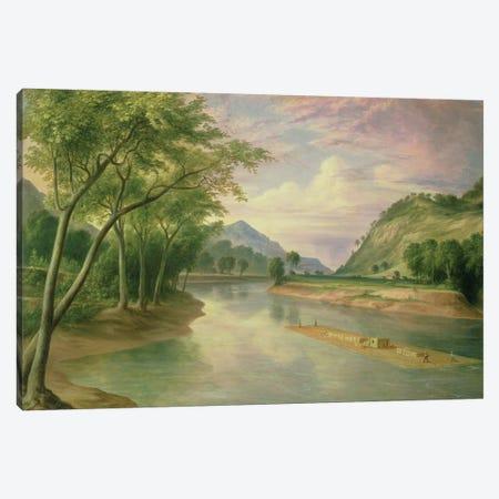 Ohio River near Marietta, 1855  Canvas Print #BMN4811} by Henry Cheever Pratt Art Print
