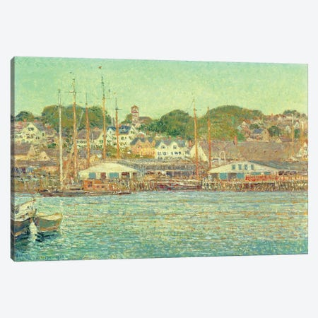 Gloucester Harbour, 1917  Canvas Print #BMN4812} by Childe Hassam Art Print