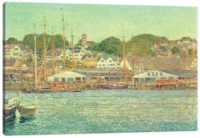 Gloucester Harbour, 1917  Canvas Art Print