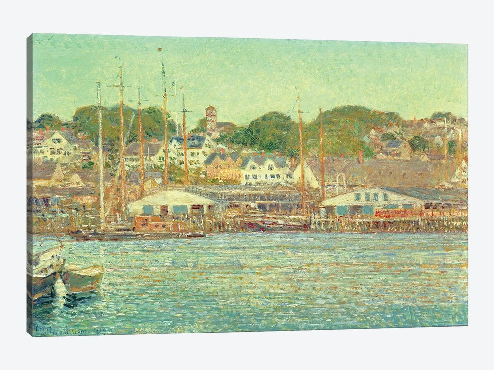 Gloucester Harbour, 1917  by Childe Hassam 1-piece Art Print