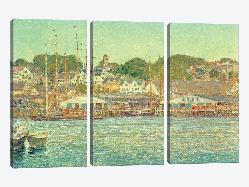 Gloucester Harbour, 1917  by Childe Hassam 3-piece Art Print
