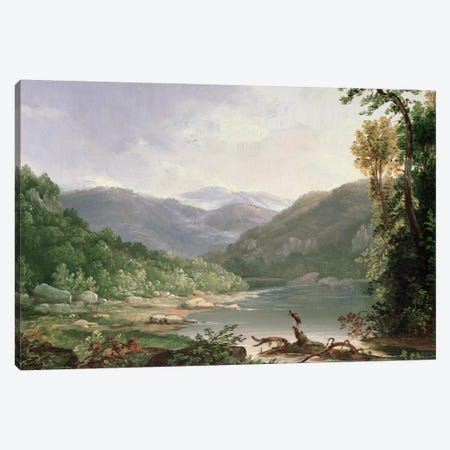 Kentucky River, Near Dic River  Canvas Print #BMN4813} by Thomas Worthington Whittredge Art Print