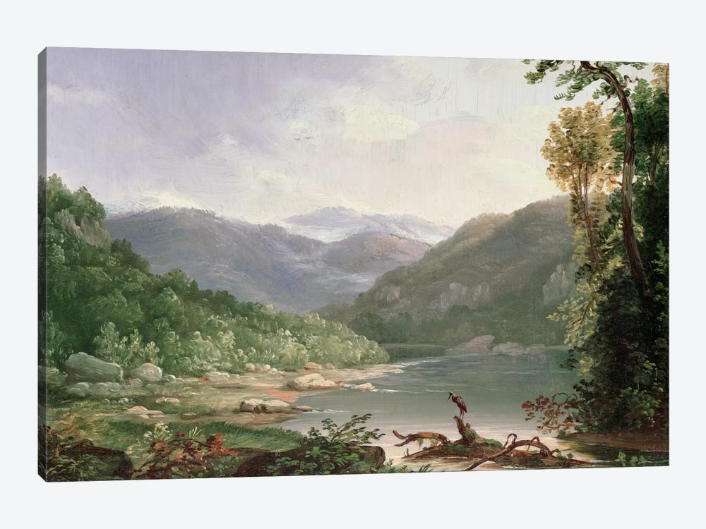 Kentucky River, Near Dic River  by Thomas Worthington Whittredge 1-piece Canvas Art