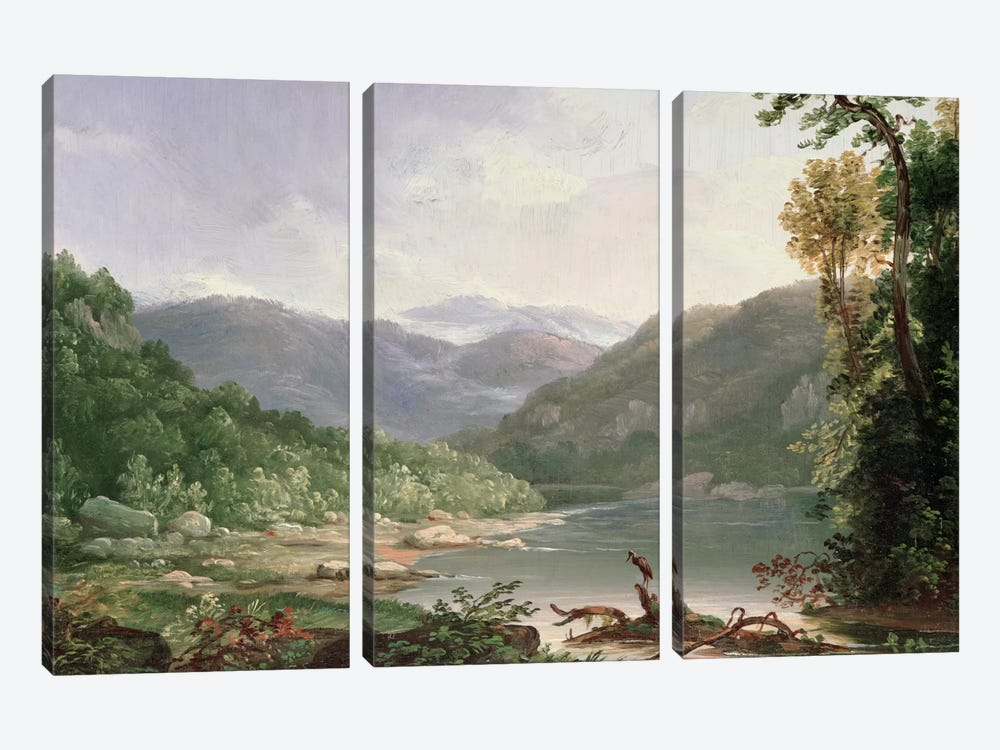 Kentucky River, Near Dic River  by Thomas Worthington Whittredge 3-piece Canvas Wall Art