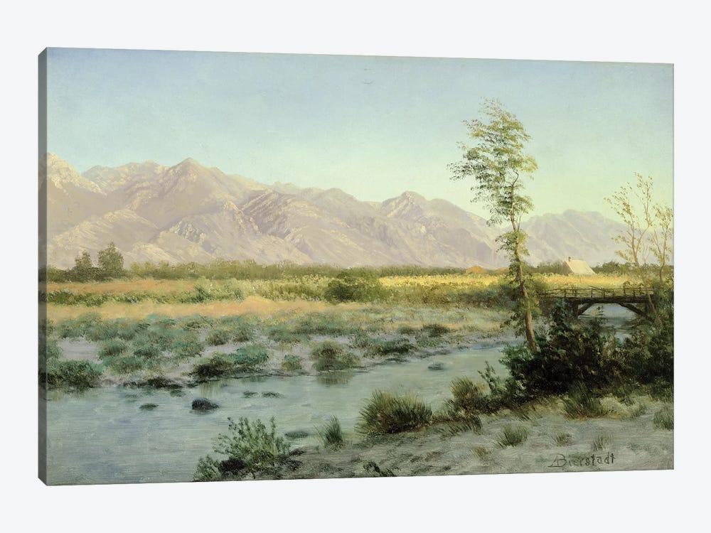 Prairie Landscape  by Albert Bierstadt 1-piece Canvas Art Print
