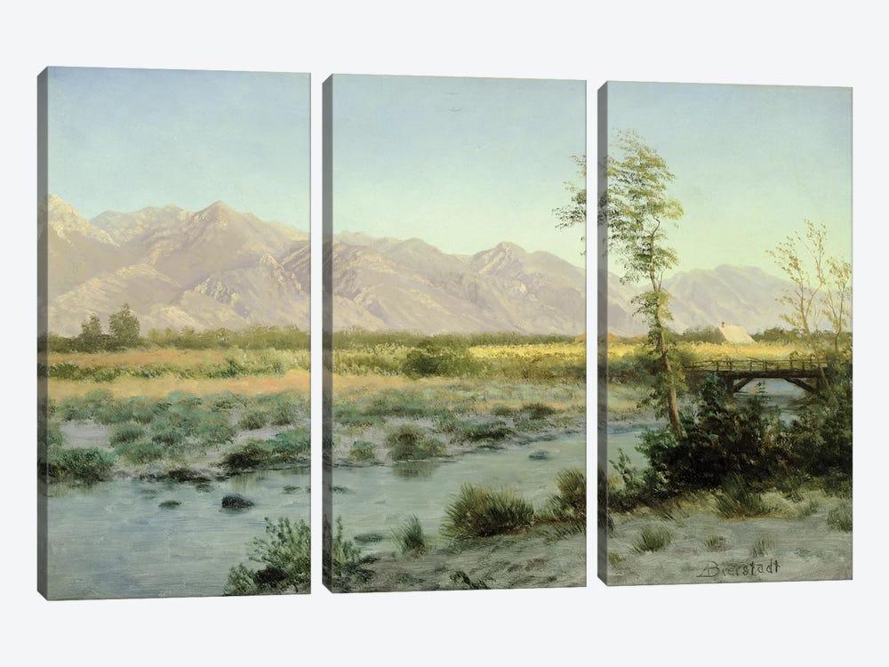 Prairie Landscape  by Albert Bierstadt 3-piece Art Print