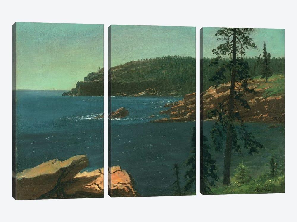 California Coast  by Albert Bierstadt 3-piece Canvas Wall Art