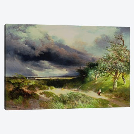 East Hampton, Long Island, Sand Dunes, 1892  Canvas Print #BMN4816} by Thomas Moran Canvas Art