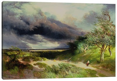 East Hampton, Long Island, Sand Dunes, 1892 Canvas Art Print