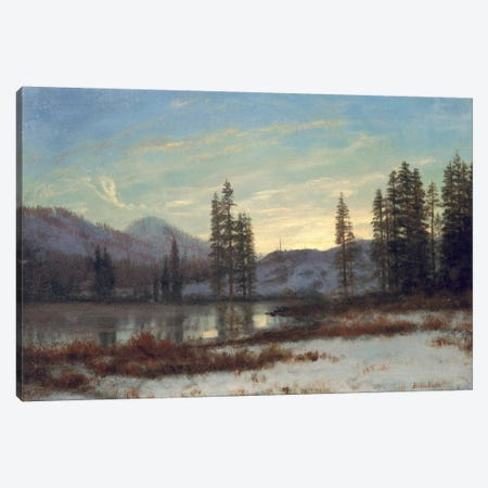 Snow in the Rockies  Canvas Print #BMN4818} by Albert Bierstadt Canvas Art Print