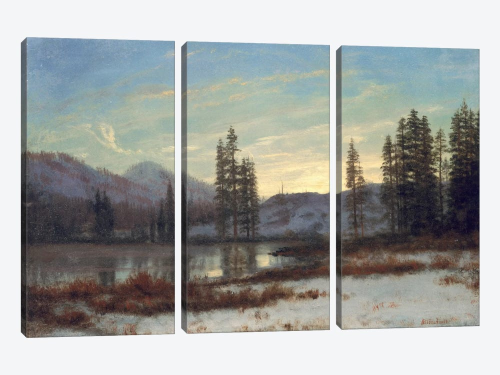 Snow in the Rockies  by Albert Bierstadt 3-piece Canvas Art Print
