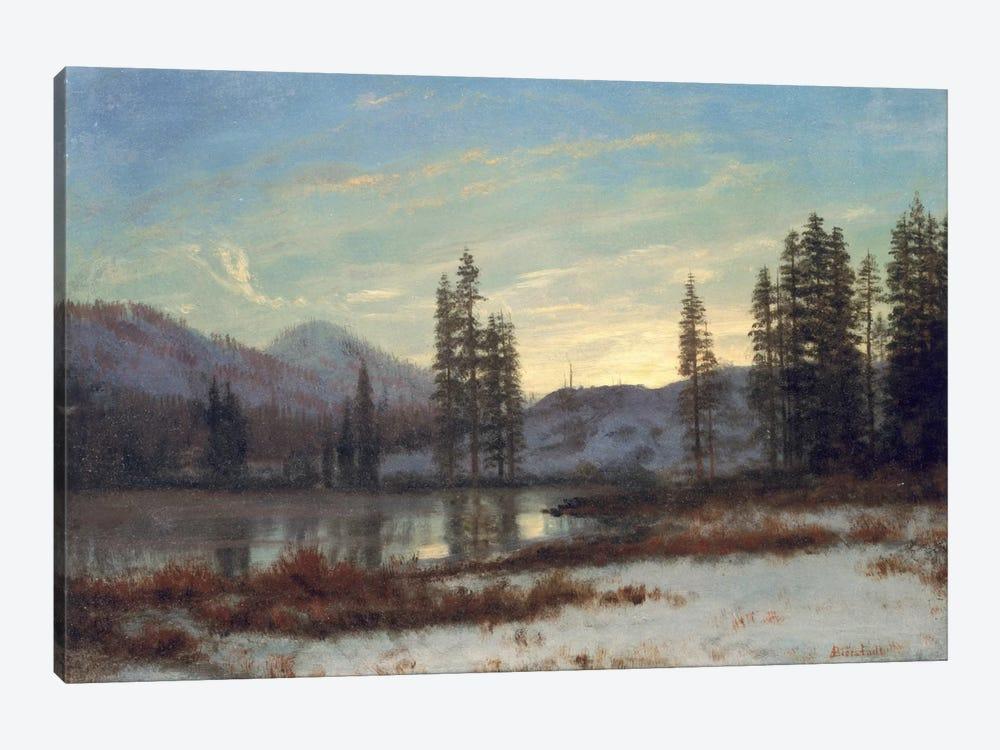 Snow in the Rockies  by Albert Bierstadt 1-piece Art Print