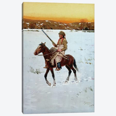 Indian Returning from the Hunt, 1912  Canvas Print #BMN4819} by Henry Francois Farny Art Print