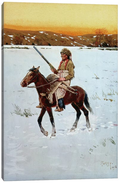 Indian Returning from the Hunt, 1912  Canvas Art Print