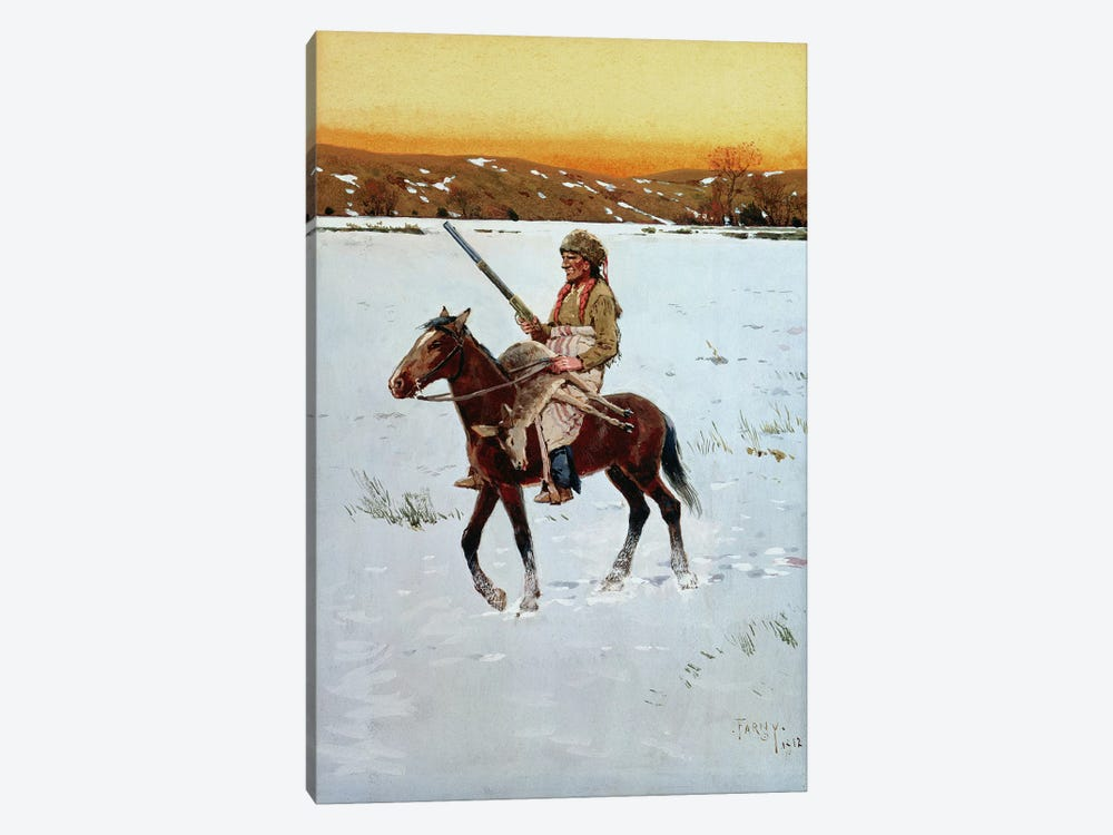 Indian Returning from the Hunt, 1912  by Henry Francois Farny 1-piece Canvas Art