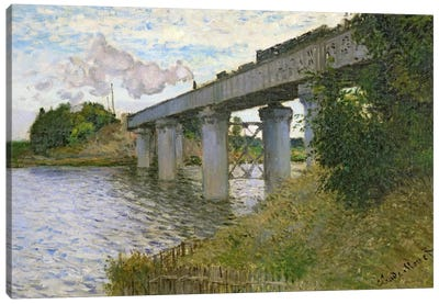 The Railway Bridge at Argenteuil, 1874 Canvas Art Print