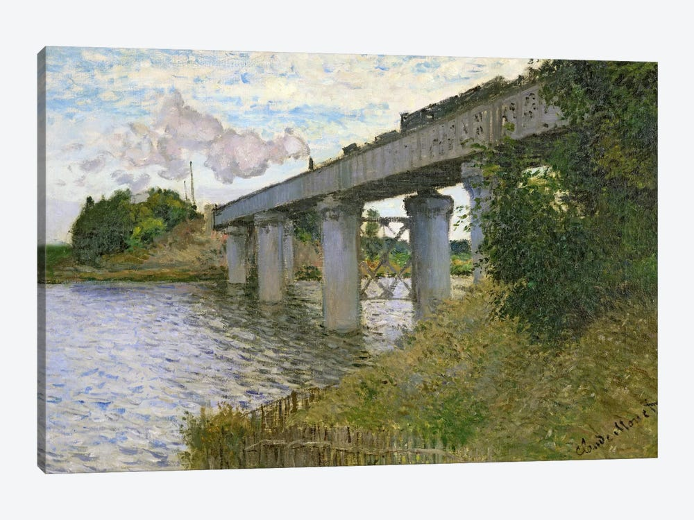 The Railway Bridge at Argenteuil, 1874 by Claude Monet 1-piece Art Print