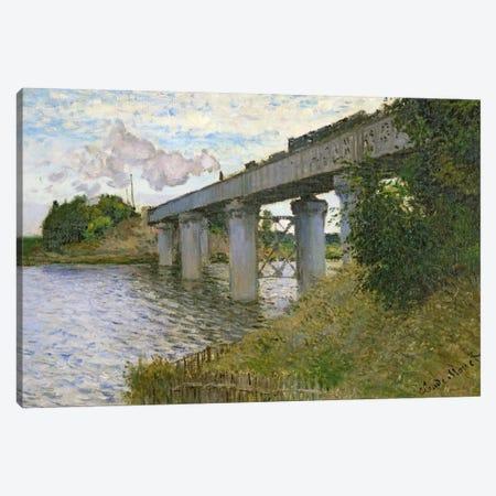The Railway Bridge at Argenteuil, 1874  Canvas Print #BMN481} by Claude Monet Canvas Art