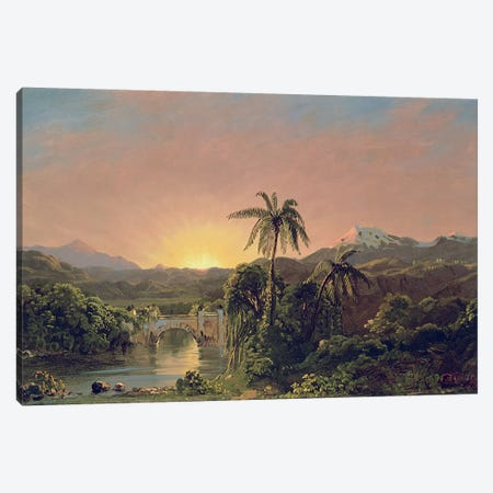 Sunset in Equador  Canvas Print #BMN4820} by Frederic Edwin Church Canvas Artwork