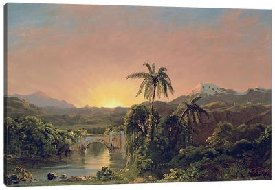 Sunset in Equador  Canvas Art Print