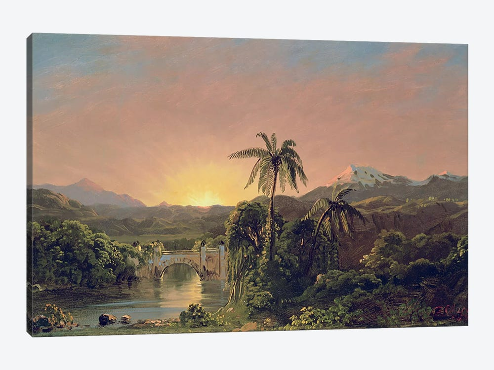 Sunset in Equador  by Frederic Edwin Church 1-piece Canvas Art