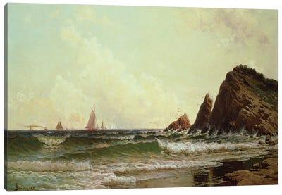 Cliffs at Cape Elizabeth, Portland Harbour, Maine, 1882  Canvas Art Print