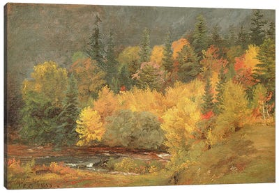 Autumn by the Brook, 1855 Canvas Art Print