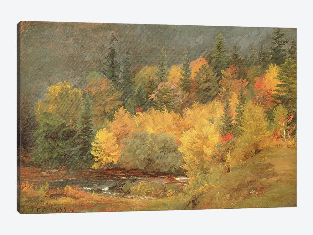 Autumn by the Brook, 1855 by Jasper Francis Cropsey 1-piece Canvas Artwork