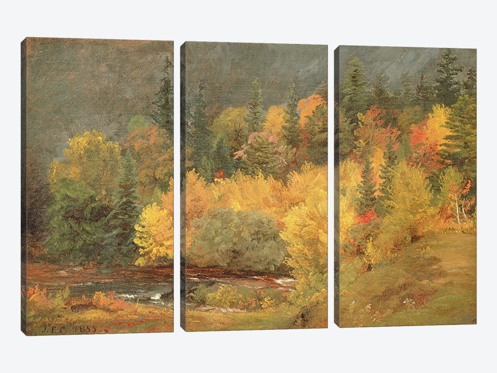 Autumn by the Brook, 1855 by Jasper Francis Cropsey 3-piece Canvas Art