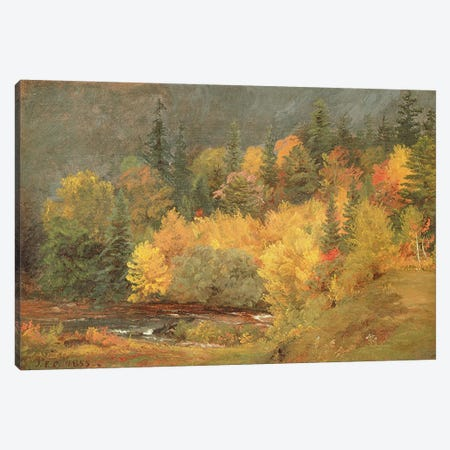 Autumn by the Brook, 1855  Canvas Print #BMN4822} by Jasper Francis Cropsey Canvas Wall Art