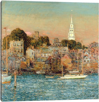 October Sundown, Newport, 1901  Canvas Art Print