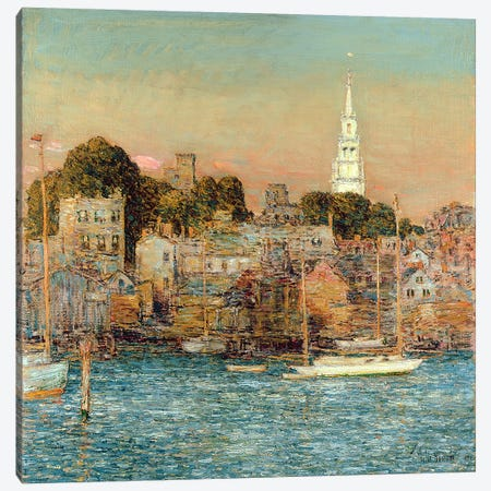 October Sundown, Newport, 1901  Canvas Print #BMN4823} by Childe Hassam Canvas Art