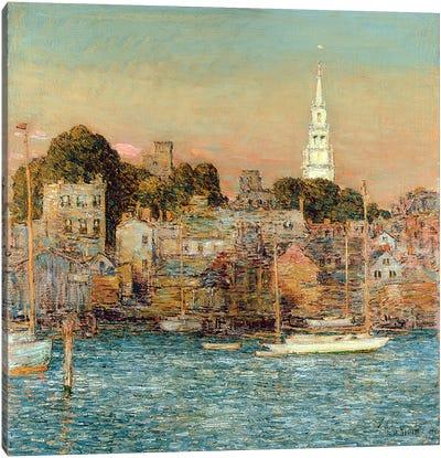 October Sundown, Newport, 1901  Canvas Art Print