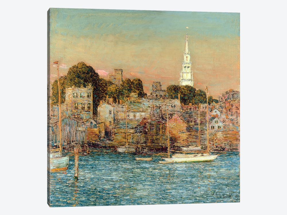 October Sundown, Newport, 1901  by Childe Hassam 1-piece Canvas Print