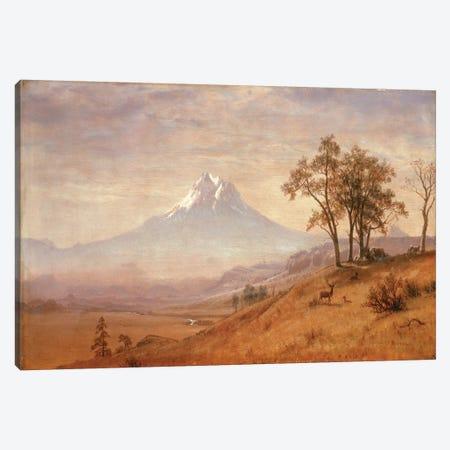 Mount Hood, 1863  Canvas Print #BMN4824} by Albert Bierstadt Art Print