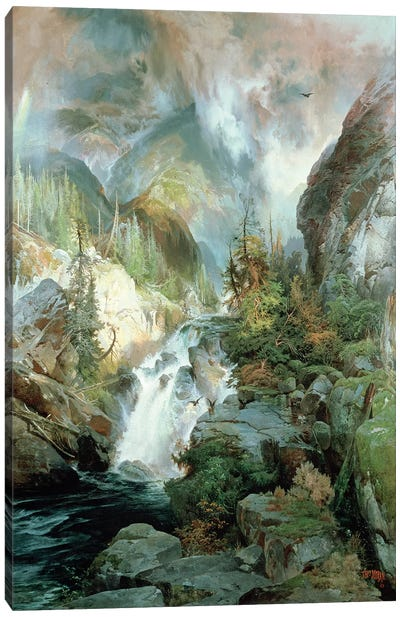 Children of the Mountain, 1866  Canvas Art Print