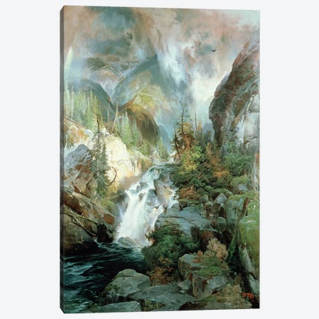 Children of the Mountain, 1866  Canvas Print #BMN4825} by Thomas Moran Canvas Print