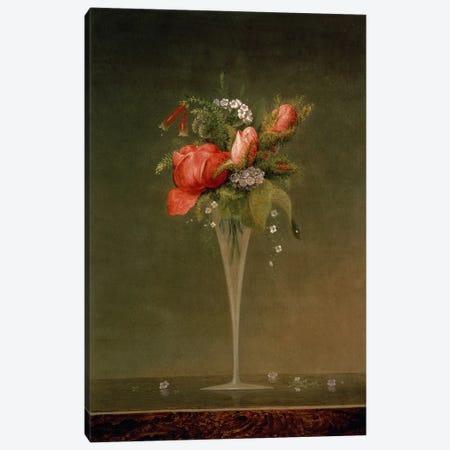 Still Life with Wine Glass, 1860  Canvas Print #BMN4826} by Martin Johnson Heade Canvas Print