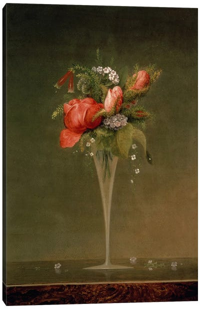 Still Life with Wine Glass, 1860  Canvas Art Print