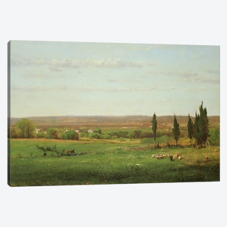 Near Eagleswood, 1869  Canvas Print #BMN4827} by George Inness Sr. Art Print