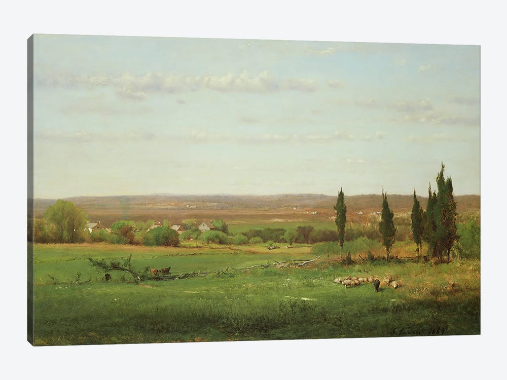 Near Eagleswood, 1869  by George Inness Sr. 1-piece Art Print