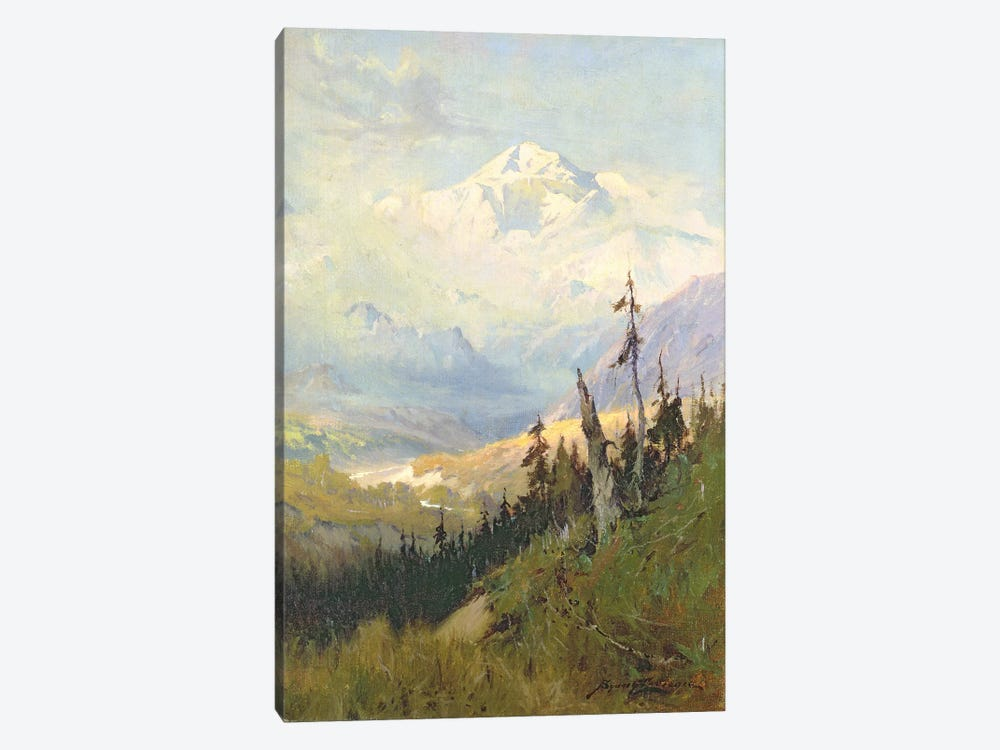 An Autumn Day, Mt. McKinley by Sidney Laurence 1-piece Canvas Artwork