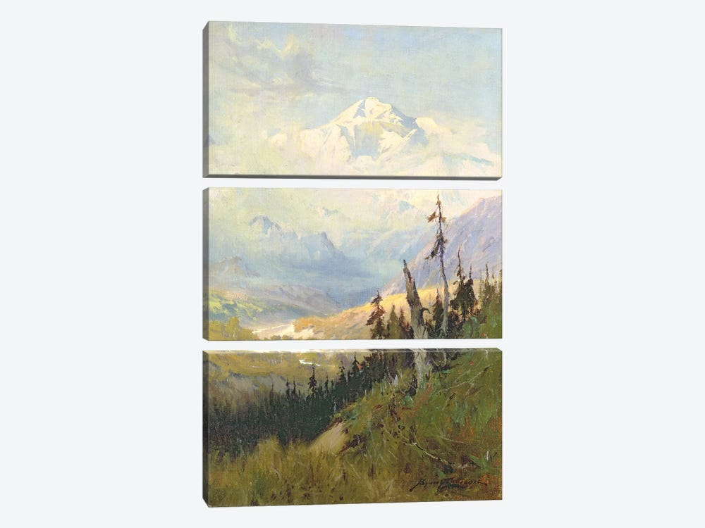 An Autumn Day, Mt. McKinley by Sidney Laurence 3-piece Canvas Artwork