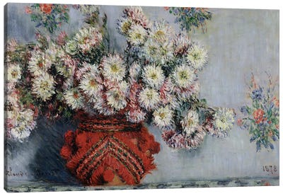 Chrysanthemums, 1878  Canvas Art Print